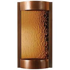 Indoor wall fountains lamps plus contempo solare bronze mirror copper indoor wall fountain workwithnaturefo