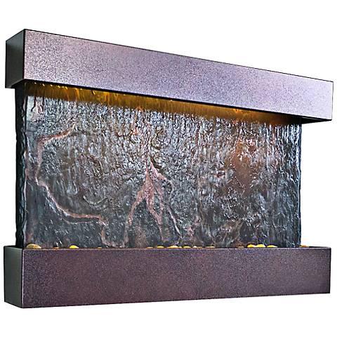Horizon Falls Medium Coppervein Indoor LED Wall Fountain