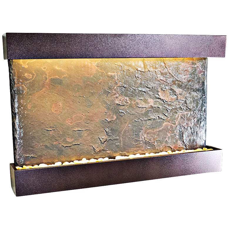 """Horizon Falls Large Coppervein 33"""" High Indoor Wall Fountain"""