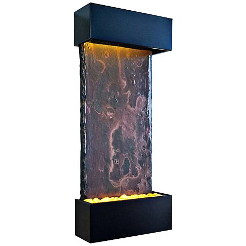 "Nojoqui Falls Medium Black 42 1/2"" High Indoor Wall Fountain"