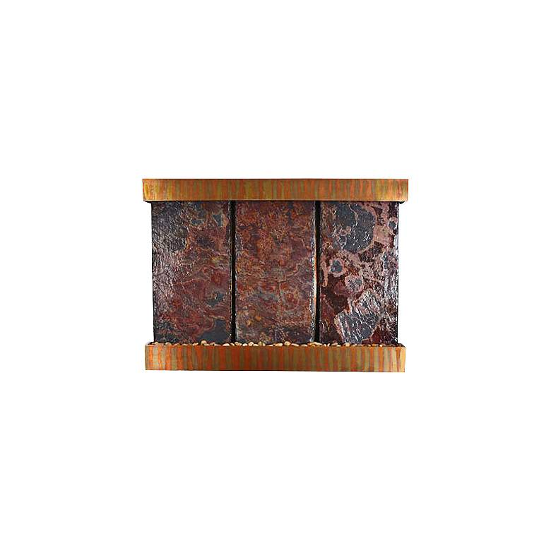 "Nojoqui Falls Triple Copper Slate 57"" High Wall Fountain"