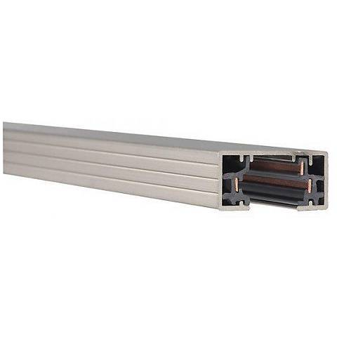 Lightolier Single-Circuit 4' Brushed  Nickel Track Section