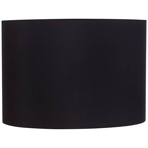 Black Hardback Drum Shade 16x16x11 Spider