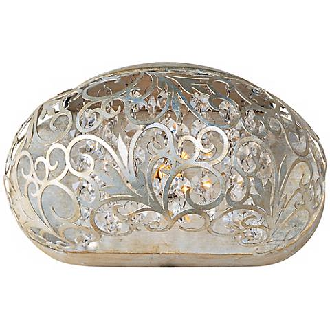 "Maxim Arabesque Golden Silver 9 1/2"" Wide Wall Sconce"
