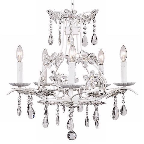 White Cinderella 5-Light Chandelier