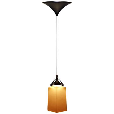 "WAC Huntington 3 1/4"" Wide LED Amber Glass Mini Pendant"