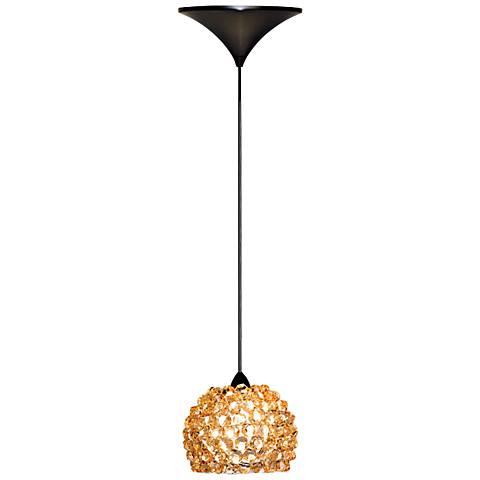 "WAC Gia 4 1/2""W Champagne Diamond Dome LED Mini Pendant"