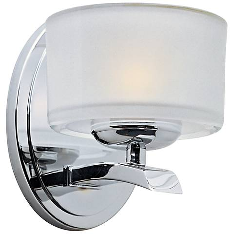 "Maxim Elle Collection Chrome 6 1/2"" High Wall Sconce"