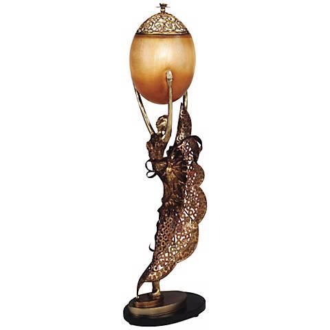 Hand-Made Golden Ballerina Accent Table Lamp