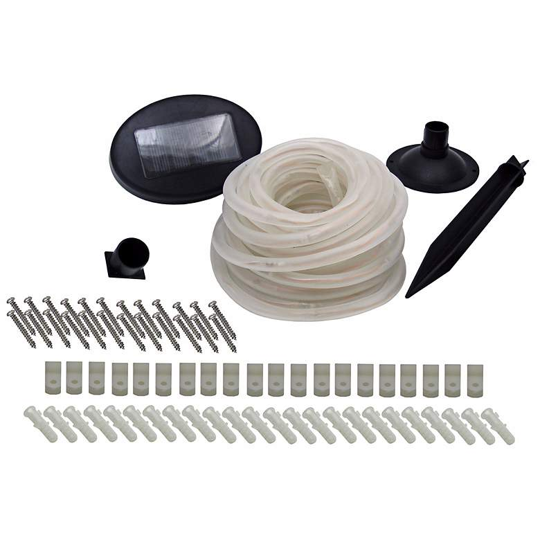 Solar Powered 100 Count White LED Rope Lights