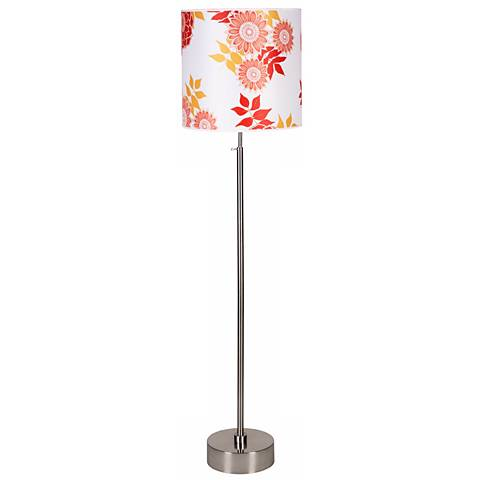 Lights Up! Cancan 2 Anna Red Adjustable Height Floor Lamp