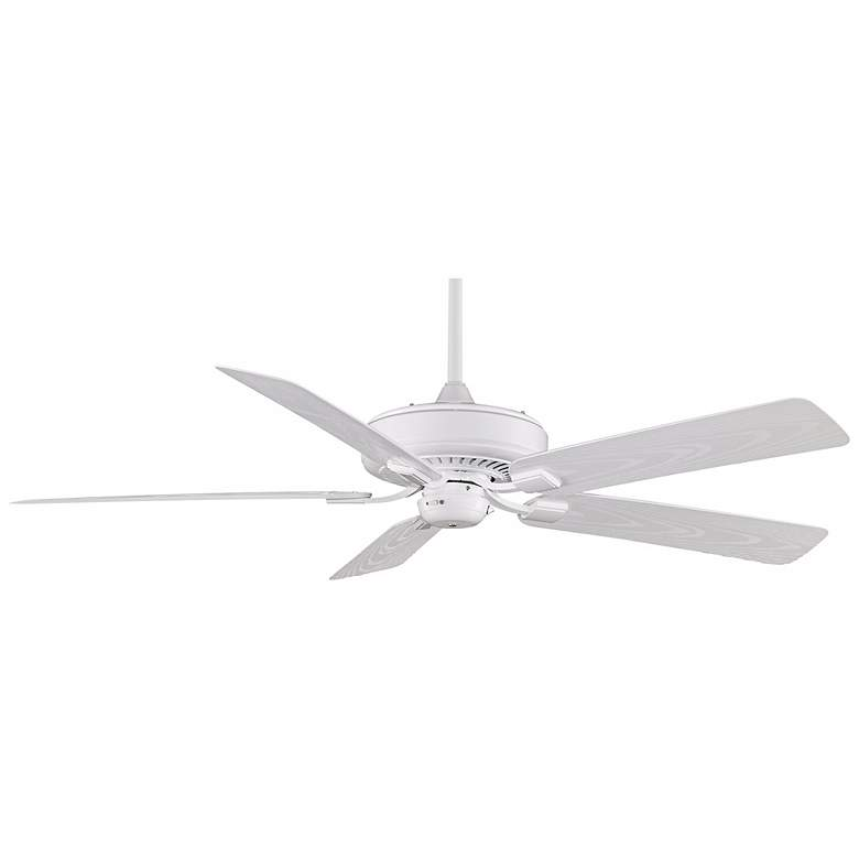 "60"" Fanimation Edgewood™ White Wet Ceiling Fan"