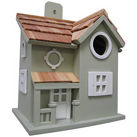 Nestling Cottage Green Birdhouse