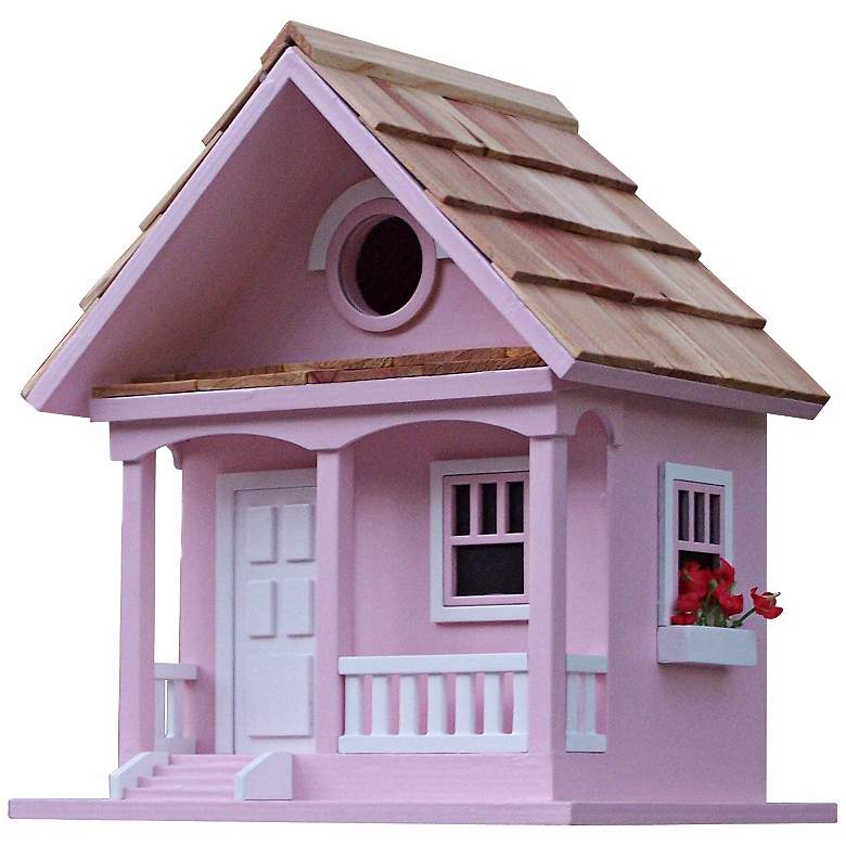 Forest Bungalow Cottage Cotton Candy Birdhouse