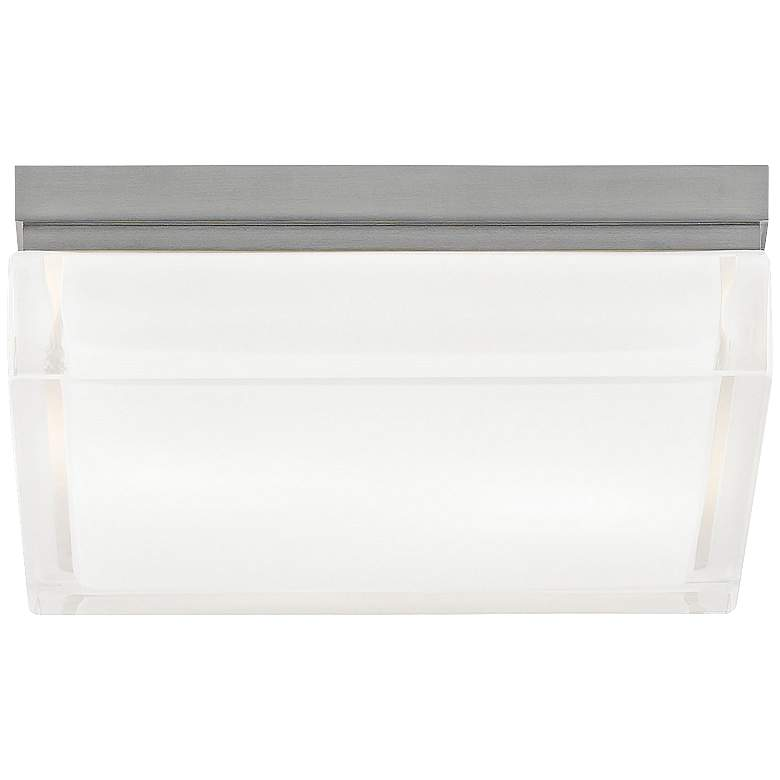 """Tech Lighting Boxie 9"""" Wide LED Frost Glass Ceiling Light"""
