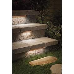 Deck lighting step lights outdoor stair lights lamps plus kichler bronze 6 led hardscape deck step and bench light workwithnaturefo