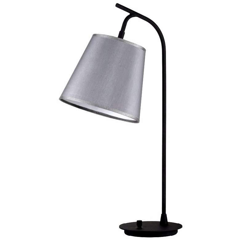 Lights Up! Platinum Silk Glow Shade Walker Table