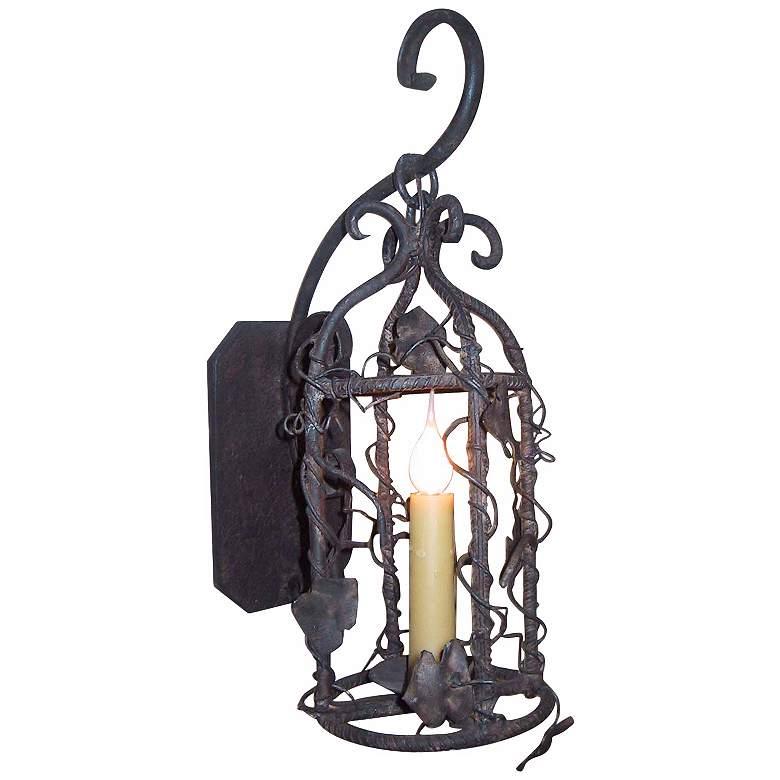 "Laura Lee Birdcage Lantern 19"" High Wall Light"