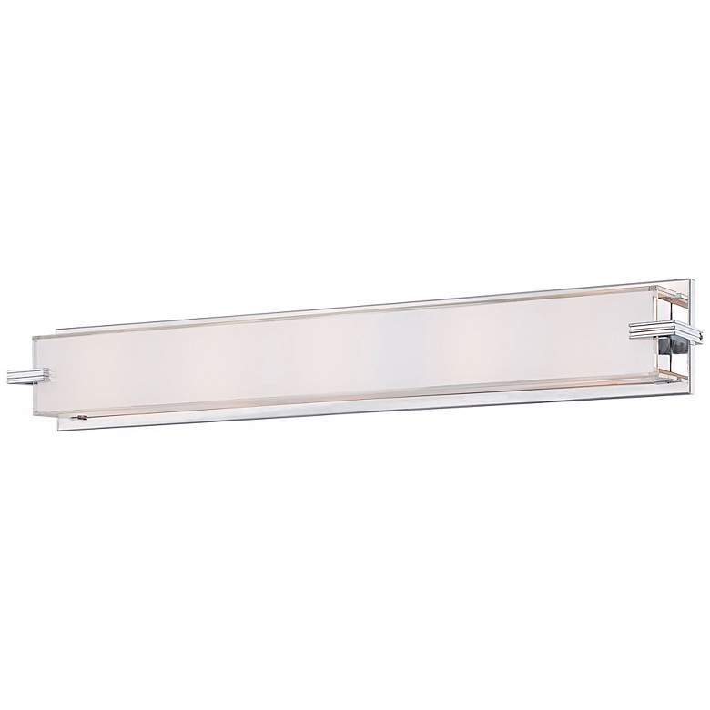 """George Kovacs Cubism Collection 30"""" Wide Bath Wall Light"""