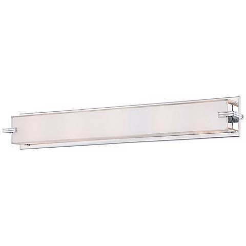 "George Kovacs Cubism Collection 30"" Wide Bath Wall Light"
