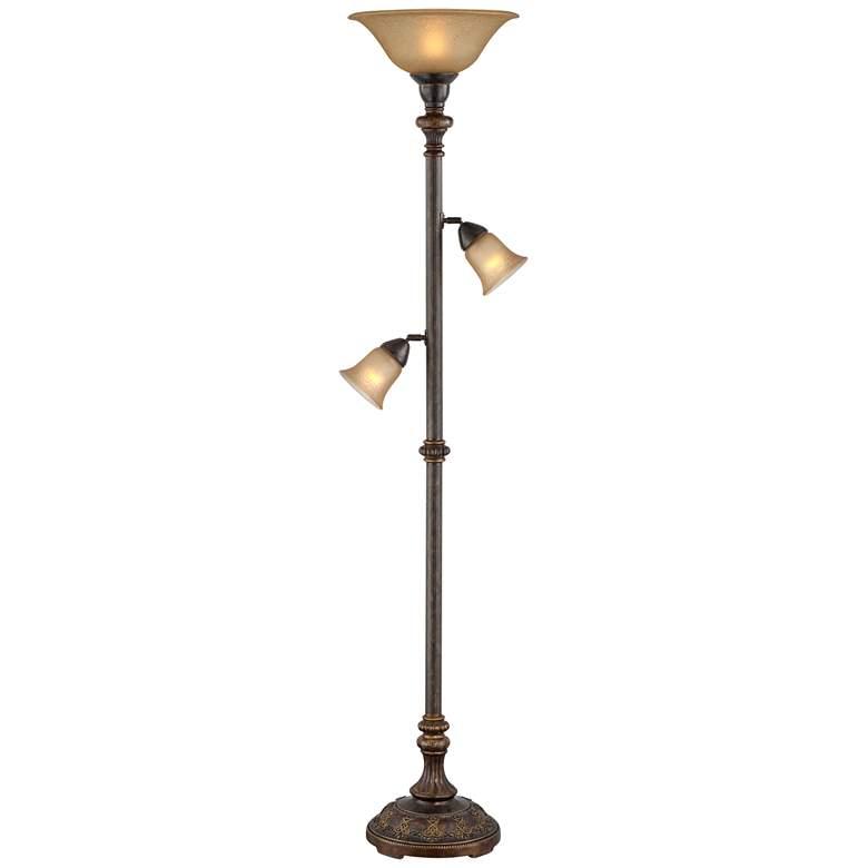 Italian Bronze 3-in-1™ Torchiere Floor Lamp