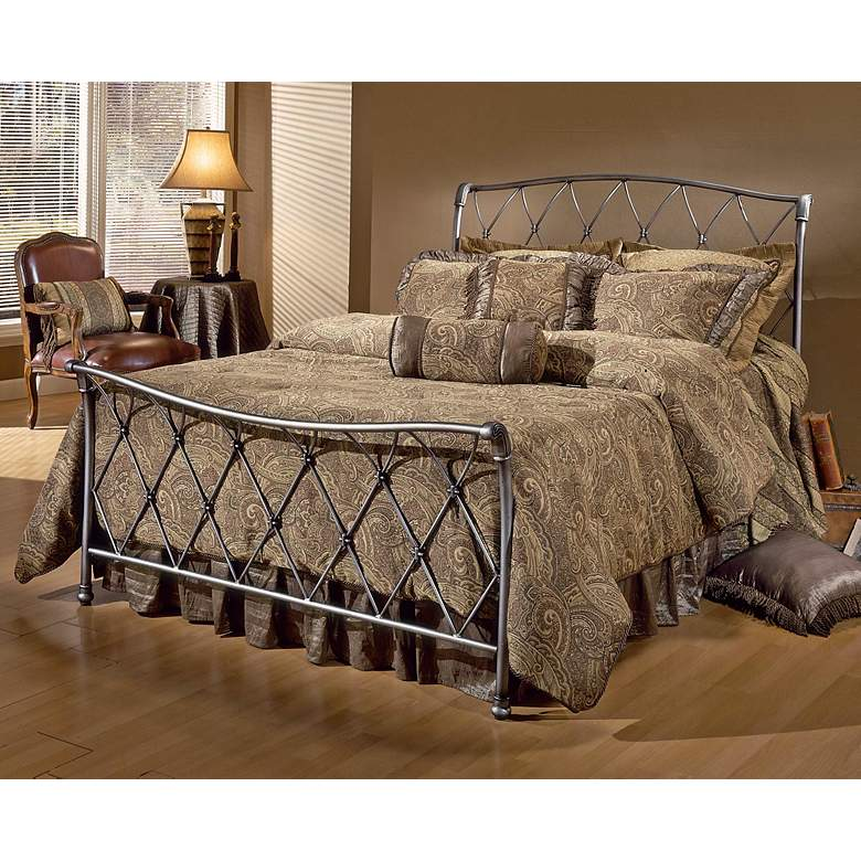 Hillsdale Silverton Brushed Silver Bed (Queen)