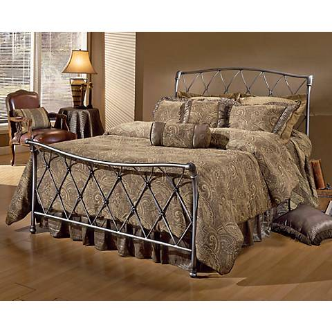 Hillsdale Silverton Brushed Silver Bed