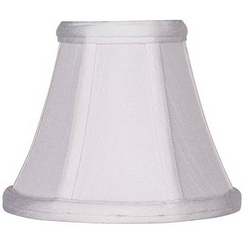 Imperial White Fabric Lamp Shade 3x6x5 (Clip-On)