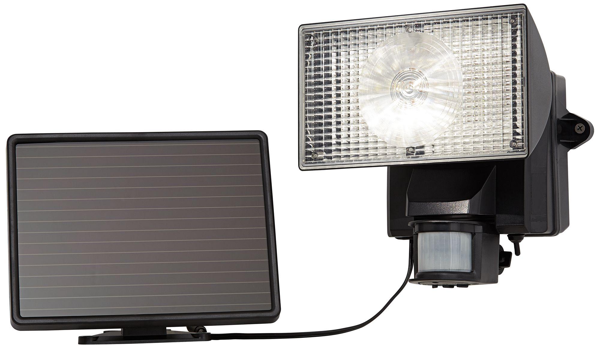Black Solar Power Motion Sensor 80 LED Flood Light T4486 Lamps Plus