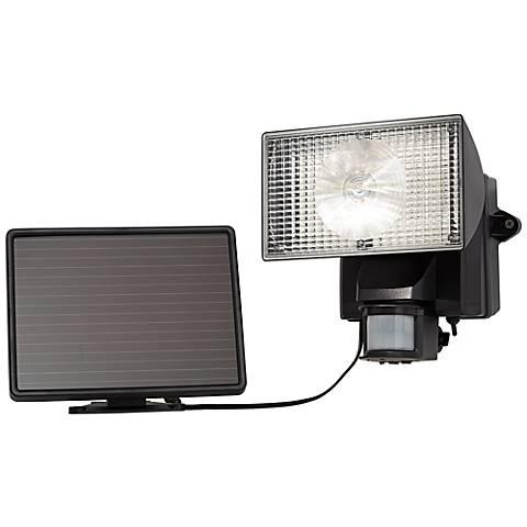 Black Solar Power Motion Sensor 80 LED Flood Light