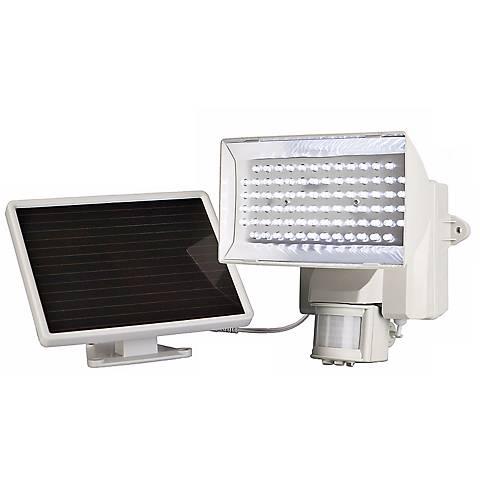 White Solar Power Motion Activated 80 LED Flood Light