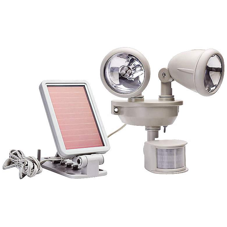 Solar Dual Head LED Motion-Activated Security Spotlight