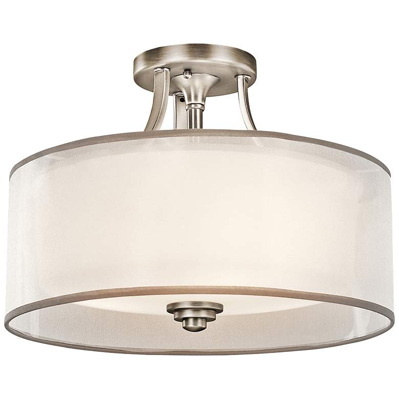 """Kichler Lacey 15"""" Wide Antique Pewter Ceiling Light"""