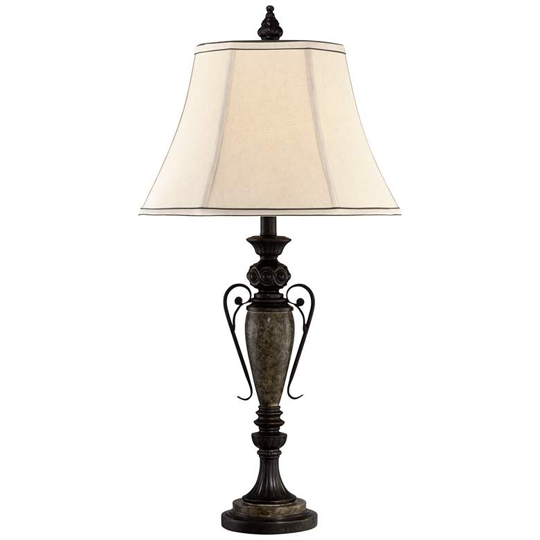 Kathy Ireland London Town Faux Agate Marble Table Lamp
