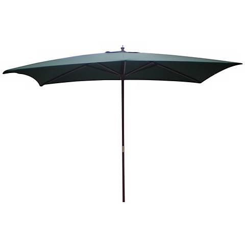 Rectangular Hunter Green Market Table Umbrella