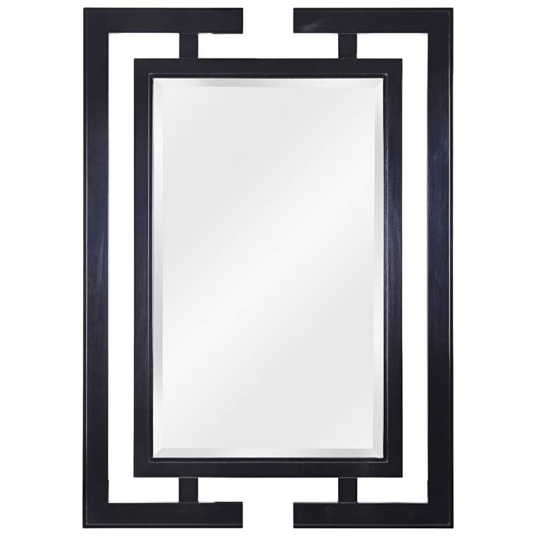 "Mikoto Gloss Black 29"" x 41"" Wall Mirror"