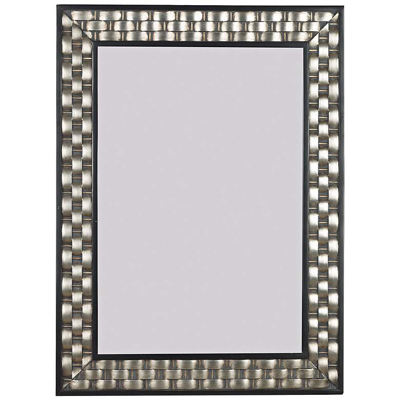 """Woven Champagne 28"""" x 38"""" Wall Mirror"""