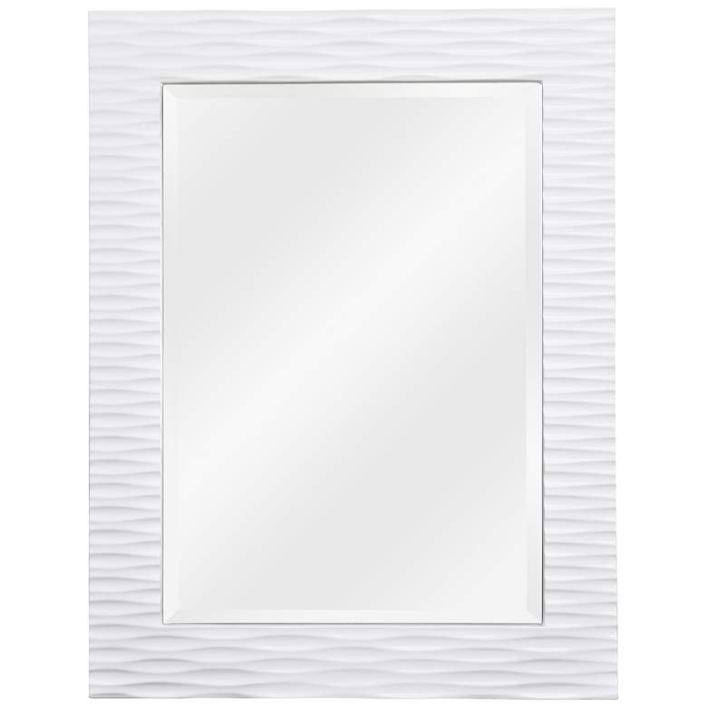 "Tranquility White 30"" x 39"" Rectangular Wall Mirror"
