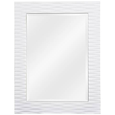 """Tranquility Gloss White 39"""" High Wall Mirror"""