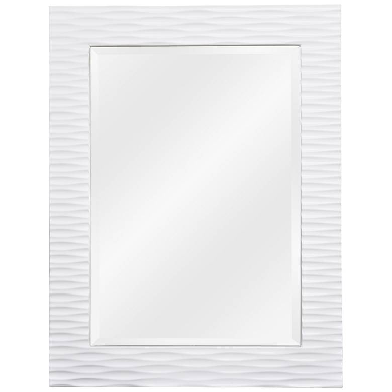 """Tranquility Gloss White 30"""" x 39"""" Wall Mirror"""