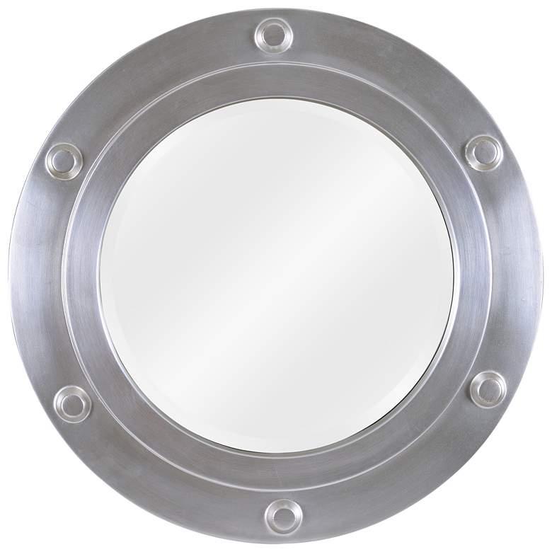 "Beach Head Weathered Steel  24"" Round Wall Mirror"