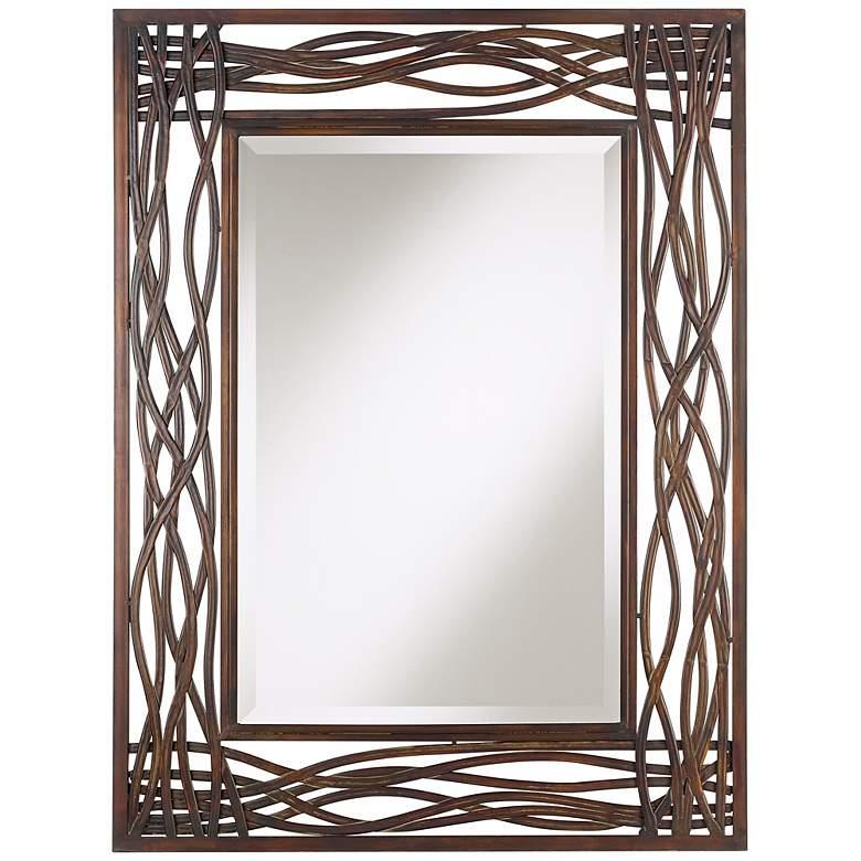 "Uttermost Dorigrass Mocha Brown 32"" x 42"" Wall Mirror"