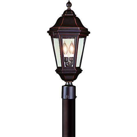 "Verona 27"" High Outdoor Antique Bronze Post Light"