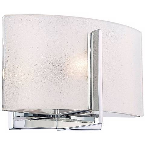 "Clarte Bath 5 1/2"" High Chrome and Iris Glass Wall Sconce"