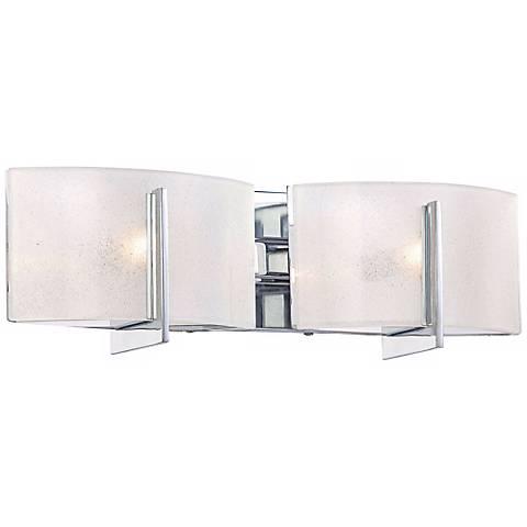 """Clarte 17 3/4"""" Wide Chrome and Iris Glass 2-Light Bath Light"""