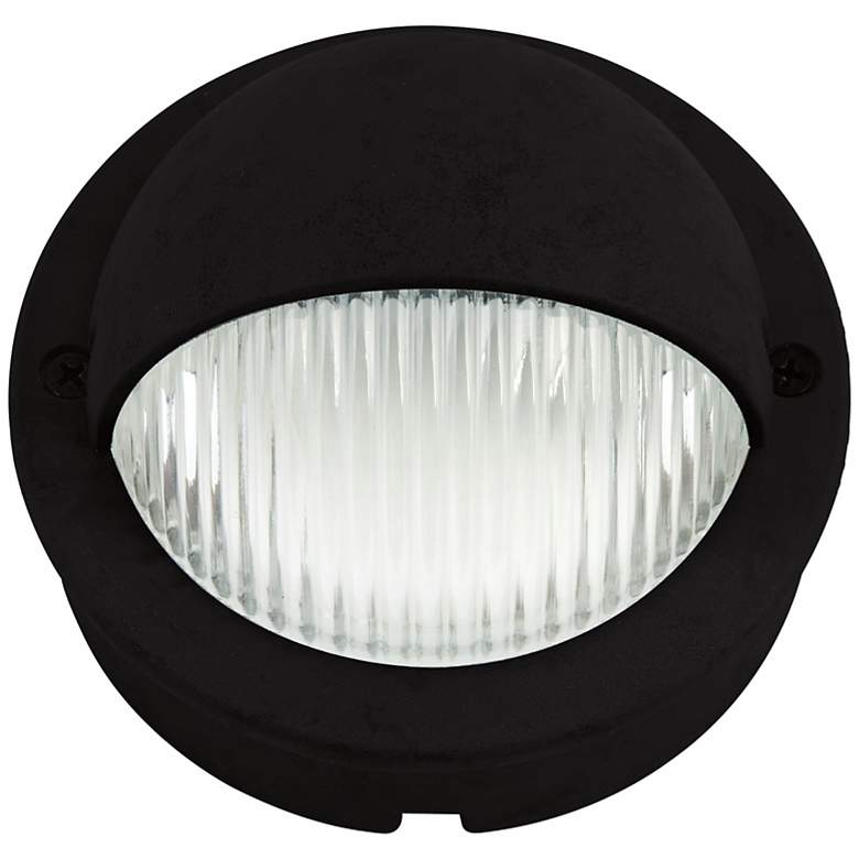 "Black Finish LED 4"" Wide Deck Light"