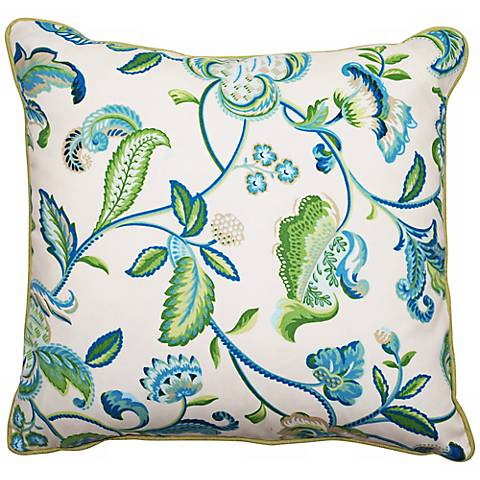"Maxine 18"" Square Welt Cording Outdoor Pillow"