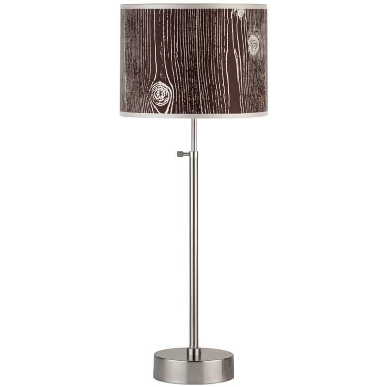 Lights Up! Cancan Faux Bois Dark Adjustable Table