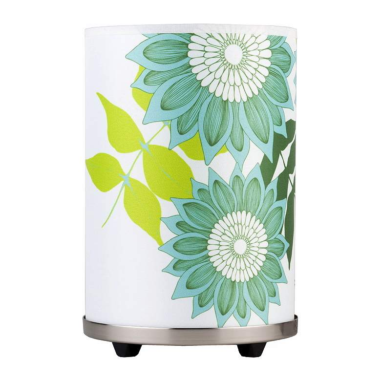 """Lights Up! Meridian 10""""H Small Anna Green Accent Table Lamp"""
