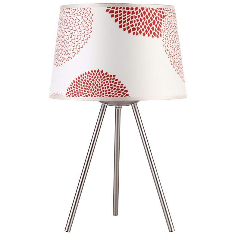"""Lights Up! 20"""" High Weegee Small Red Mumm Accent Table Lamp"""